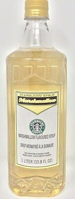 Starbucks Marshmallow Coffee Syrup 1-Liter Bottle 8/21/17 Free Shipping! Fresh!
