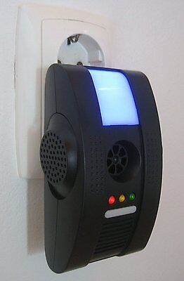 Repeller EU plug in Ultrasonic Electronic Pest Control Rat Mouse Mice Spider BLK