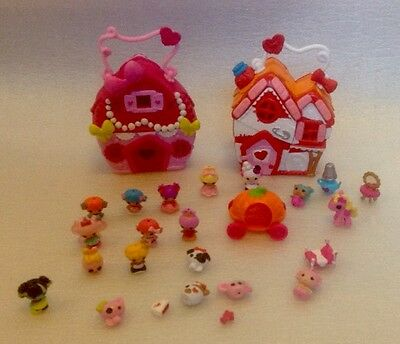 Lovely Set Of Lalaloopsy Tinies Play n Go Houses With Figures And Accessories