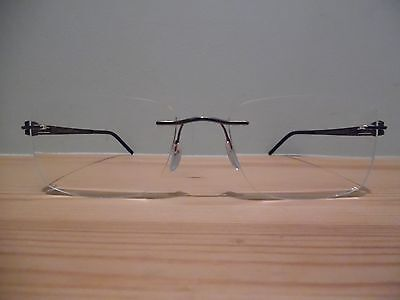 Silhouette Bronze & Black Rimless Eye Glasses 5328 40 6052 55 19 145 5369