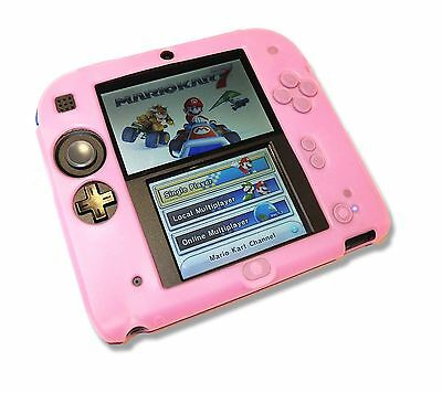 Pink Soft Silicone Gel Cover Case for Nintendo 2DS Console UK Seller