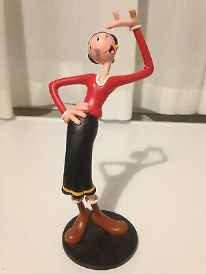 Popeye Olive Showing Off Figurine Statue 2004 King Features Syndicate Inc Marked