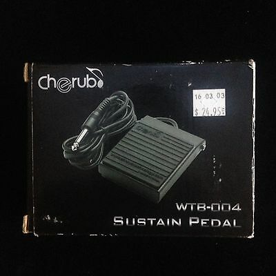 Cherub WTB-004 Sustain Pedal For Casio And Yamaha Type Electronic Keyboards