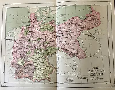 Antique 1873 Color Map of the German Empire