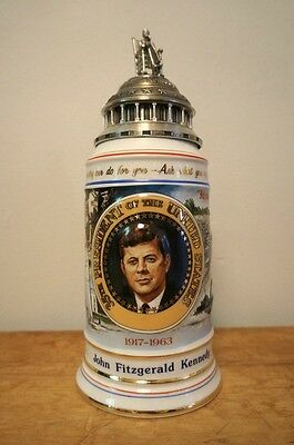 American Heritage John F. Kennedy Beer Stein - Limited Addition - Anheuser Busch