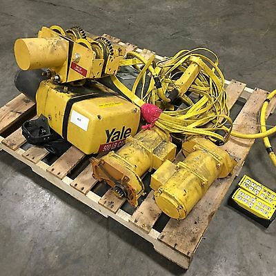 Yale 1000 Lb Electric Chain Hoist with 500 Lb Trolley  #4625