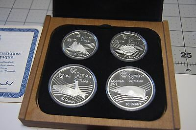 1976 Canada .925 Sterling Silver $5 & $10 Olympic 4 Coin Commemorative Proof