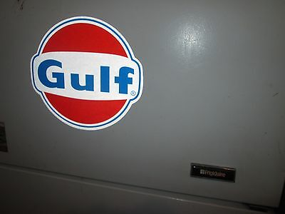 "12""  Reflective Gulf Oil Sign On Decal"