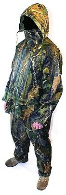 Camouflage Rain Suit Fishing Camping Hiking Outdoor Clothing Top & Bottoms XL