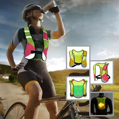 Safety Reflective Stripes Running Cycling Water Hydration Backpack Vest Jacket
