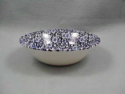 Queen's Victorian Calico Blue Oatmeal Bowl
