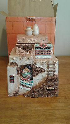 Enesco Friends Of A Feather Pueblo Cookie Jar