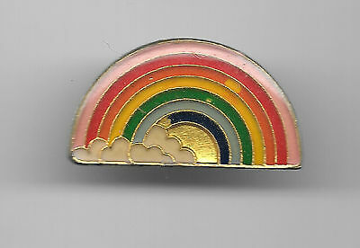 Vintage Rainbow with Clouds 2b old enamel pin
