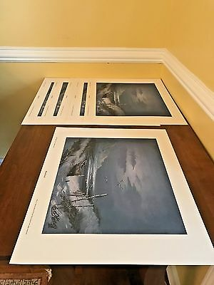 """Two RARE Evel Knievel """"Abandoned"""" Prints, Slightly off Color, HUGE SAVINGS, WOW!"""