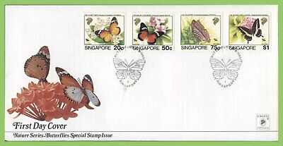 Singapore 1993 Nature series, Butterflies set on First Day Cover