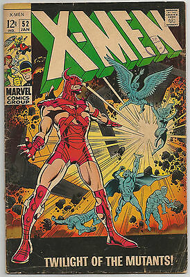 Uncanny X-Men #52. Vol1. Marvel Jan 1969. Eric the Red, Mesmero. GD+