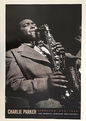 Charlie Parker,jazz, Photo By Herman Leonard 1949,authentic 2007 Poster