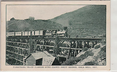 Lithograph - Gold Hill, NV - Train on Crown Point Bridge - early 1900s