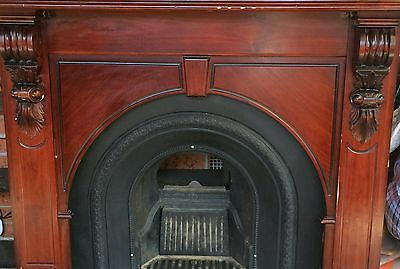 Fire place mantle with hearth.