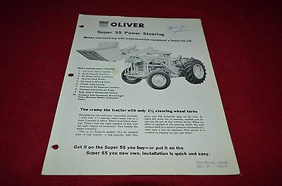 Oliver Tractor Power Steering For Super 55 Tractor Dealers Brochure DCPA8