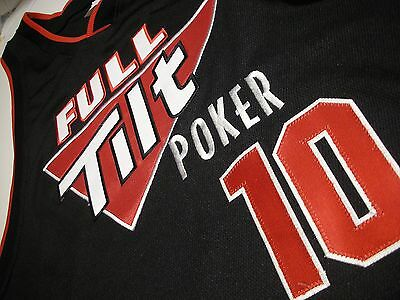Full Tilt Poker Basketball Stitched Jersey #10 WYWROT Large RARE Excellent Clean