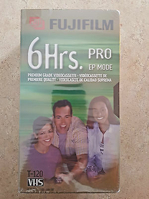 FUJIFILM Pro VHS Tapes (Brand New) 6 HRS. T-120 EP Mode Lot Of 3