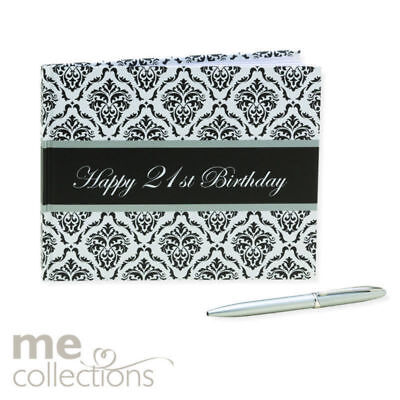 """""""New""""GUEST BOOK WITH PEN ME 21ST BIRTHDAY UNISEX(EACH)-Free Shipping"""