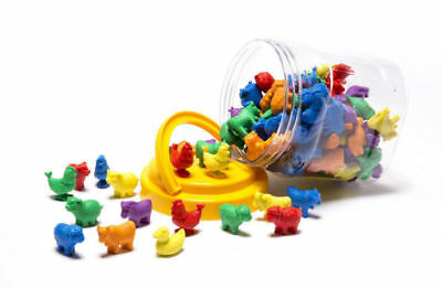 """""""New""""LEARNING CAN BE FUN EC COUNTERS FARM ANIMALS JAR 72(EACH)-Free Shipping"""