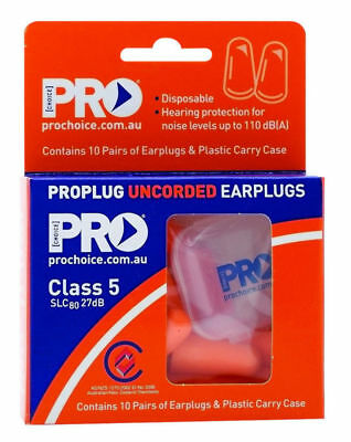 """New""EARPLUGS PROPLUG ZIONS DISPOSABLE UNCORDED 10 PAIRS(EACH)-Free Shipping"