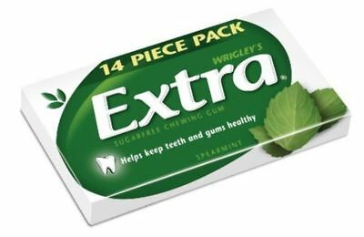 """""""New""""CONF WRIGLEYS EXTRA SPEARMINT 14PCE ENV(BX24)-Free Shipping"""