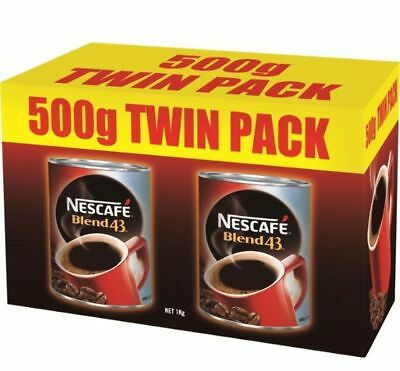 """New""COFFEE NESCAFE BLEND 43 CAN 500G TWIN PACK(EACH)-Free Shipping"