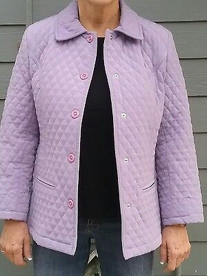 Lavendar quilted, lightweight women's jacket, by Gallery.