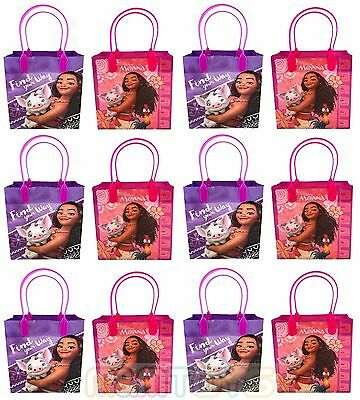 New!12pc Disney Moana Birthday Party Favor Goody Loot Gift Candy Bag