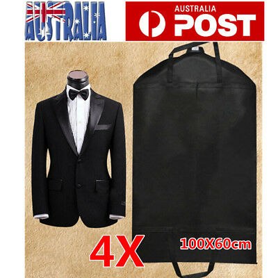 4pcs Suit Garment Dress Clothes Travel Cover Bag Dustproof Protector Waterproof
