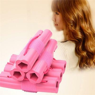 6pcs Magic Sponge Hair Soft Curler Roller Strip Heatless Roll Style Tool NEW Y2