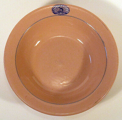 1930s Vintage BUFFALO CHINA Pink Restaurant Hotel SOUP BOWL S in Shell MIAMI FL