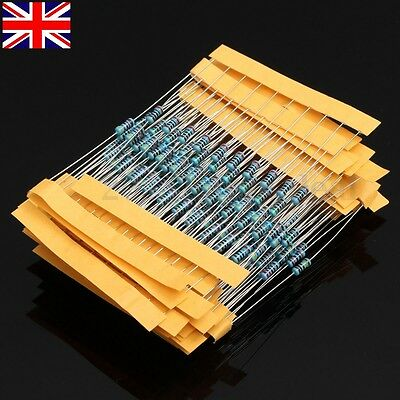 300Pcs 30 Values Resistors Resistance Metal Film 1/4W 1% Assortment Tool Kit -UK