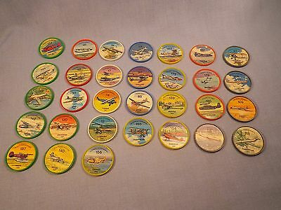Vintage Jell-O Airplane plastic coins lot Huge Collection Lots of Pics LOOK