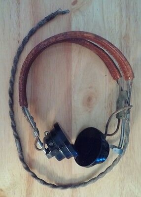 Vintage WWII-Era Western Electric Headset w/ANB-H-1 Receivers Headphones