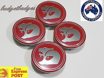 wheel centre caps Replacement HSV red gloss finish for all suitable Mods 63mm