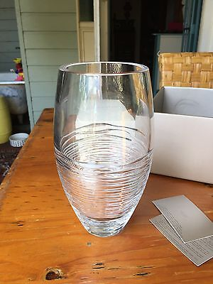 Jasper Conran @ Stuart Crystal Vase- Stunning - New In Box Original Price $279
