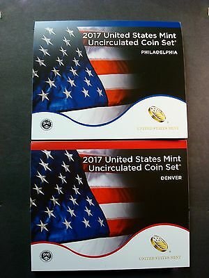 2017-P+D Set Comes In Sealed Shipping Box New Un-Opened Uncirculated Mint Set