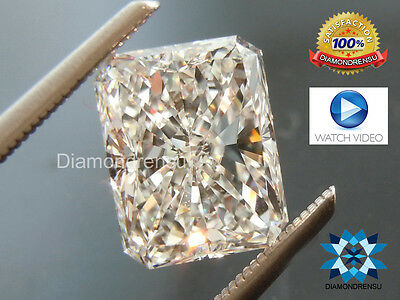 4.24 ct. Rare Radiant Long Cut loose moissanite I/J color 11x8.92mm