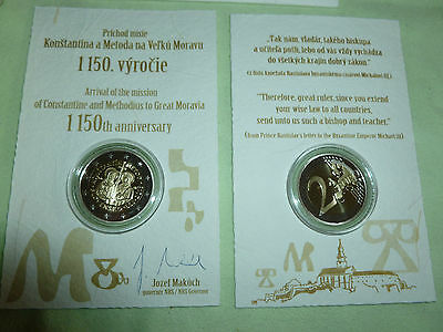 Slowakei 2euro PP 2013 Cyril und Method im orig.coincard-TOP zustand-proof!