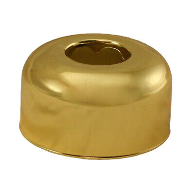 "Polished Brass Escutcheon 1-1/2"" OD Tubular Box Pattern ,PartNo E82125 JonesStep"