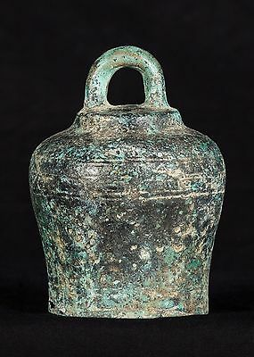 19th Century Antique Southeast Asia Chinese Bronze Bell - 14.5cm/6""
