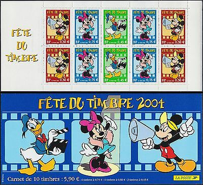 2004 FRANCE Carnet BC 3641A** FETE du TIMBRE MICKEY Stamp day Booklet MNH