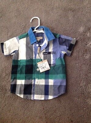 Baby burberry short sleeved shirt Aged 6 Months