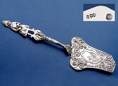 Antique gorgeous Cake lifter with figure 800 Silver C305