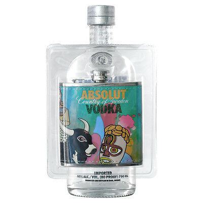 Absolut Vodka 2012 Limited Edition 6oz Hip Flask Topper Sealed (Without Bottle)